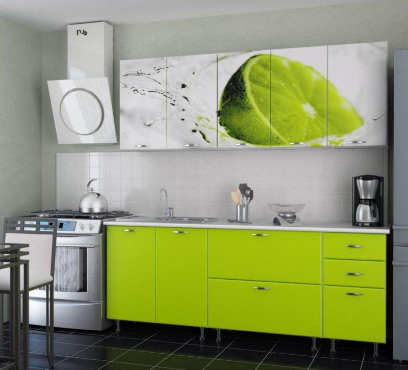 кухня цвета лайм (13)