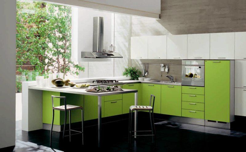 кухня цвета лайм (12)
