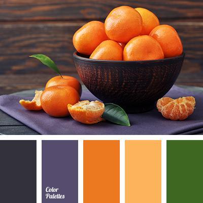 Подбор компаньонов к оранжевым шторам