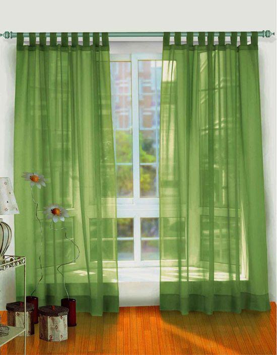 Зеленые легкие шторы
